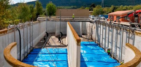 Nueva instalación de parrillas extraíbles finalizada