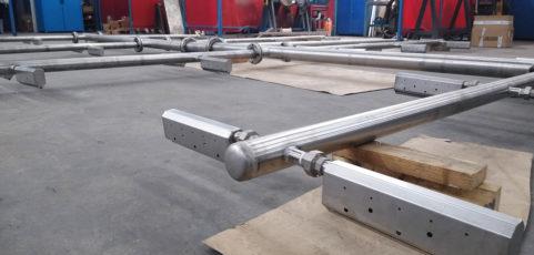 Instalación de parrilla de Difusores Tubulares en acero inoxidable
