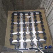 Instalación de parrilla extraíble con bancada en acero inoxidable